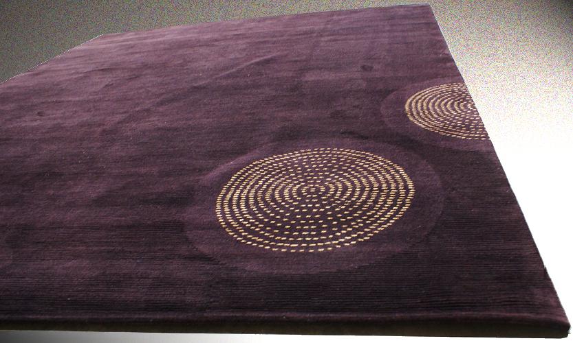 tapis laine et soie moderne